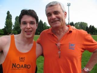 Francesco Turatello con il tecnico Lorenzo Zoccante