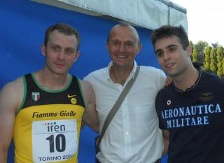 Pegoraro al centro con Galvan e Tumi agli Assoluti di Torino nel 2011