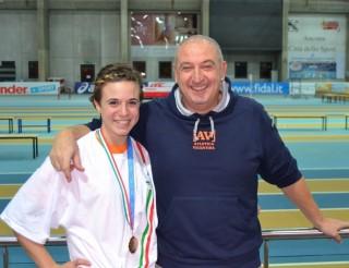 Qui con il papà-allenatore Sergio