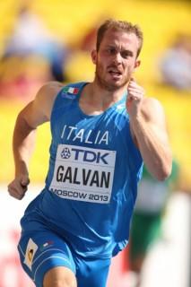 Matteo Galvan in semifinale mondiale (foto Colombo/Fidal)