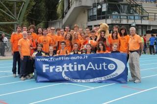 La compagine di AV Frattin Auto U23 alla finale di Rieti   2012