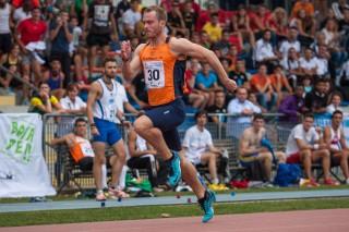 Matteo Galvan ha vinto l'oro nei 100