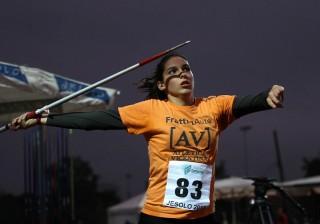 Ilaria Casarotto, vincitrice del giavellotto