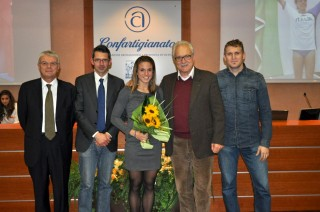 La reginetta della serata Ottavia Cestonaro con il dr. Gianni Ragazzi, Diego Fortuna, Christian Zovico e Paolo Valente