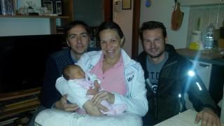 La Capitanina Allison con papà Massimo e il Capitano Paolo Noaro