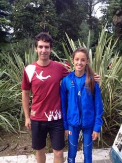 Francesca Peron con il coach Alessandro Gentilin