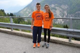 Francesca Peron con Mirko Cocco