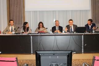 Evento AV Assosport, tavolo relatori AV Forum