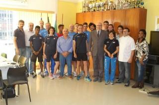 Gruppo Fidal primo giorno Rio al Coni Brasiliano