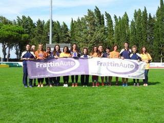 La squadra femminile di AV Frattin Auto