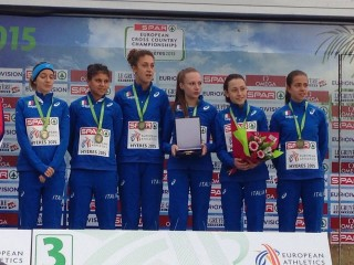 La formazione azzurra U23 bronzo europeo a squadre