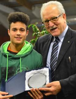 Mattia Zagotto con il presidente Valente