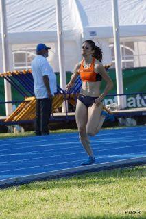 Laura Marotti in azione sui 400