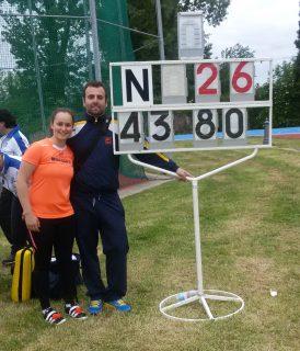 Emma Peron con il tecnico Luca Merlo