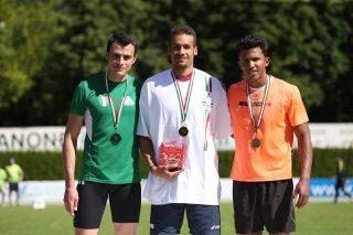 Harold Barruecos di bronzo nel lungo a Bressanone/ Foto Fidal_Colombo