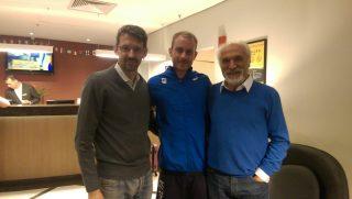 Matteo Galvan con Christian Zovico e Alfio Giomi
