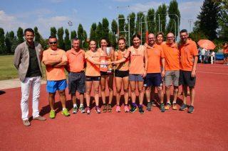 La squadra allieve campione d 'Italia 2016 con i tecnici