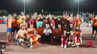 La squadra maschile di AV Despar e quella femminile di Atletica Bergamo con Alfio Giomi