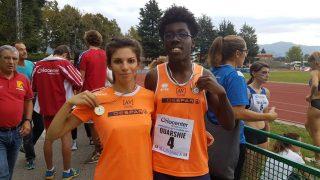 Francesca Todescato e Stefano Quarshie, doppio oro nei 100